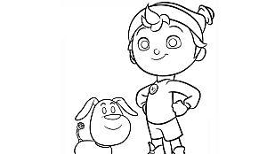 Descargable Colorea a Noddy y su amigo Bumpy