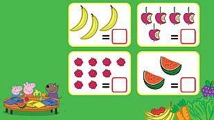 Descargable Cuenta las frutas con Peppa