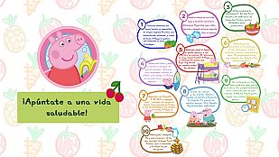 Descargable ¡Apúntate a una vida sana con Peppa!
