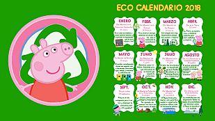 Descargable Ecocalendario 2018 de Peppa Pig
