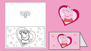 Descargable ¡Felicita San Valentín con Peppa Pig!