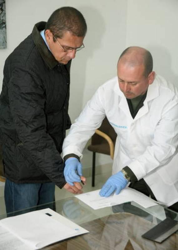 'Don Diego'  imprime su huella antes de ser extraditado a Estados Unidos