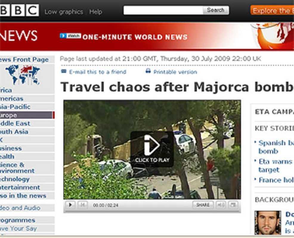Atentado de ETA según 'BBC News'
