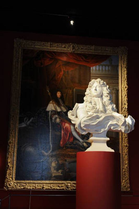 "View of the exhibition ""Louis XIV, the Man and the King"" at the Versailles castle, west of Paris"