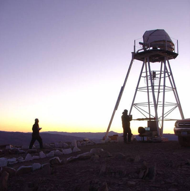 Pruebas de ubicación en el Cerro Paranal, en Chile, que alberga el observatorio del mismo nombre.