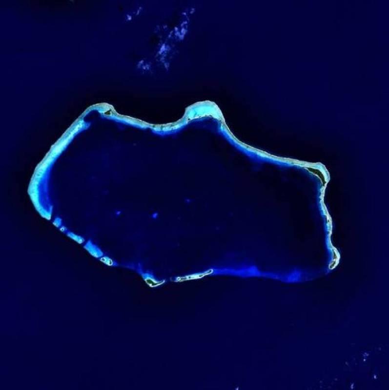 Atolón de Bikini, una isla deshabitada de unos 6 kilómetros cuadrados de las Islas Marshall famosa por las pruebas nucleares que se han llevado a cabo