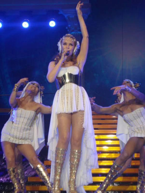 Kylie Minogue como 'Afrodita'