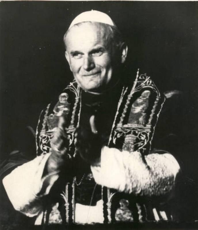 Juan Pablo II el día de su elección como papa
