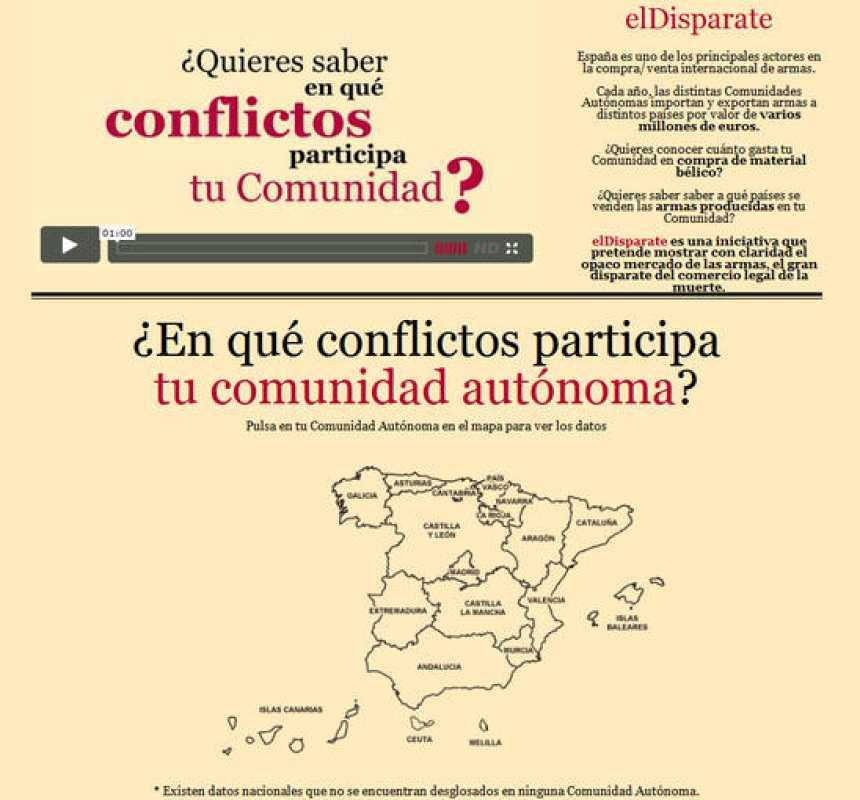 'El Disparate' se ha convertido en el ganador de la segunda edición del Desafío Abredatos 2011. Su proyecto permite conocer en qué conflictos armados está involucrada una comunidad autónoma