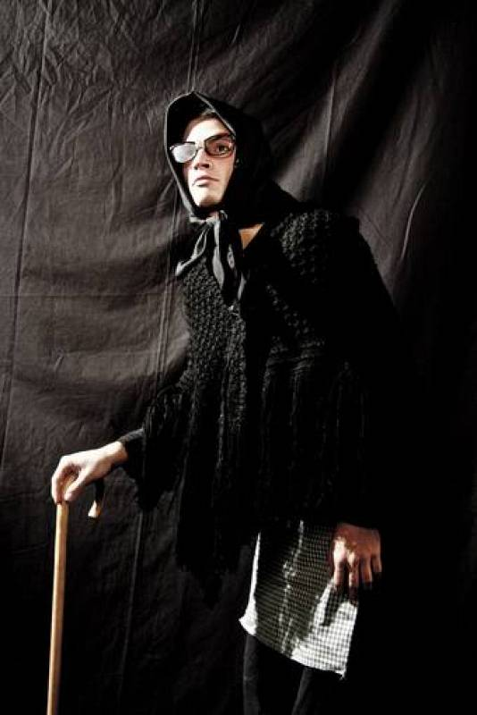 Juan Sánchez disfrazado de La Blasa