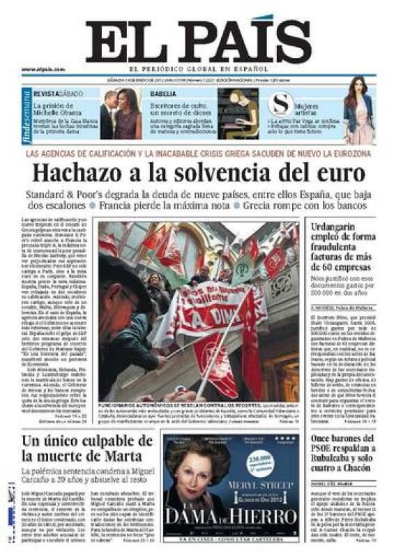 Hachazo a la solvencia del euro