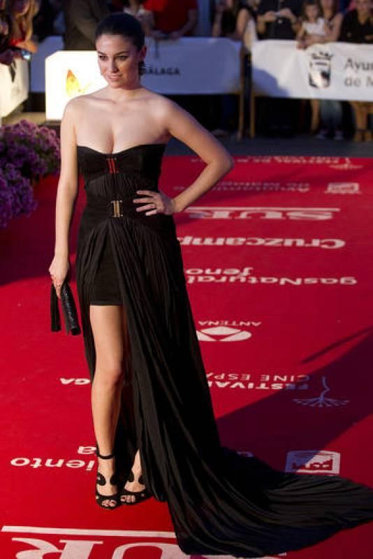 La actriz Blanca Suárez, a su llegada al Festival de Cine Español de Málaga