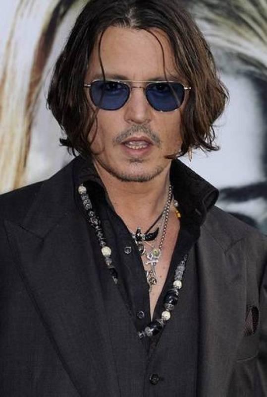 Johnny Depp en el estreno de 'Dark Shadows'