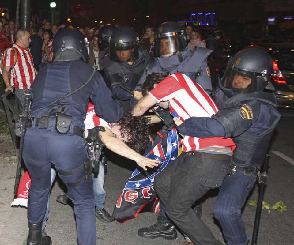 DISTURBIOS CELEBRACIÓN SEGUNDA EUROPA LEAGUE ATLÉTICO DE MADRID