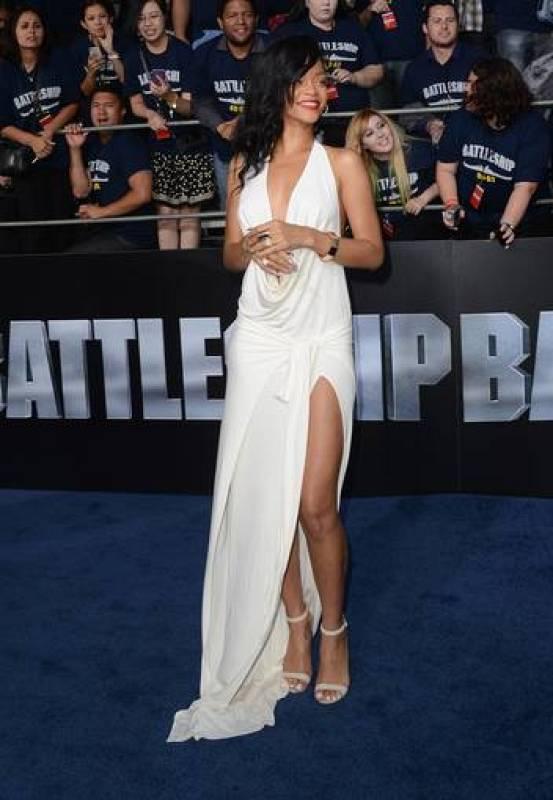 Rihanna en la alfombra roja de Battleship