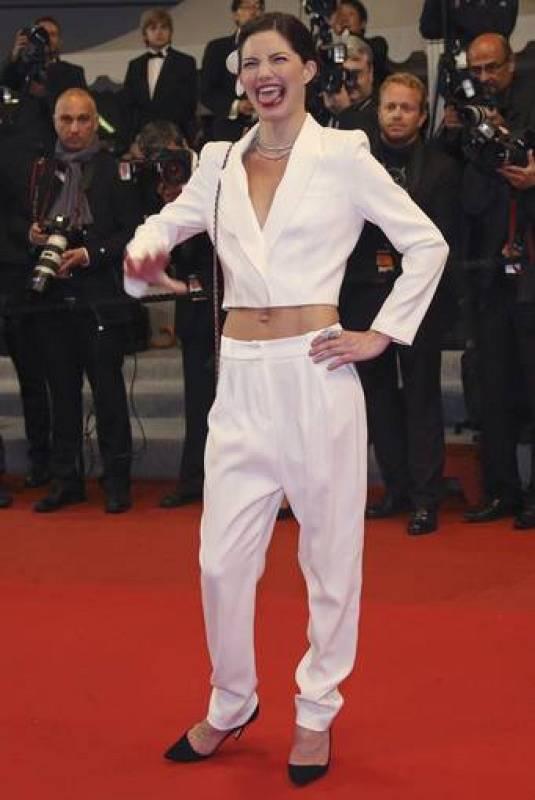 La actriz  Delphine Chaneac en Cannes