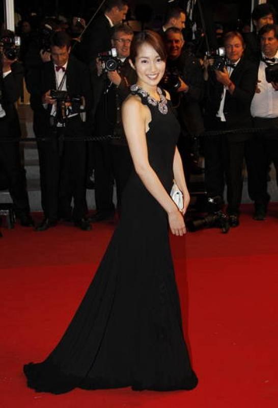 La actriz japonesa Rin Takanash en Cannes
