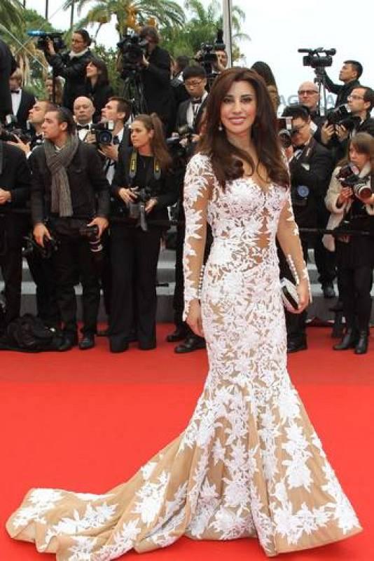 La cantante libanesa Najwa Karam sorprendió en Cannes