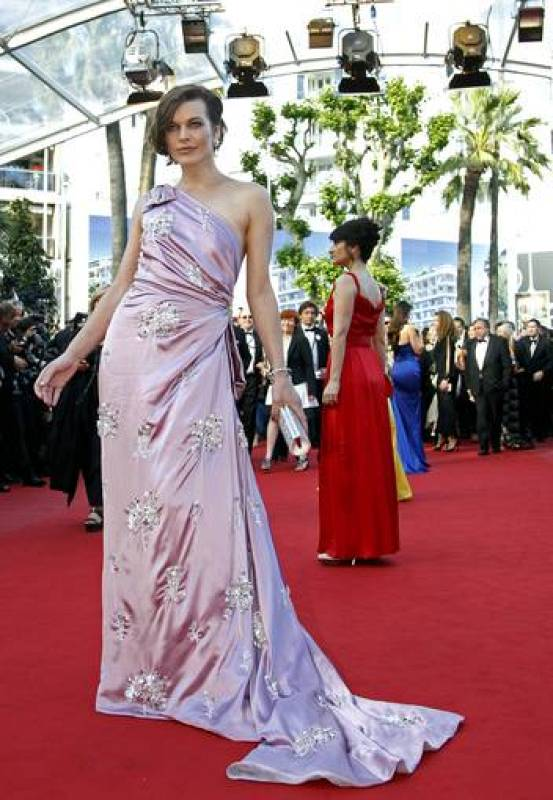 Actress Jovovich arrives on the red carpet for the screening of the film On The Road in competition at the 65th Cannes Film Festival