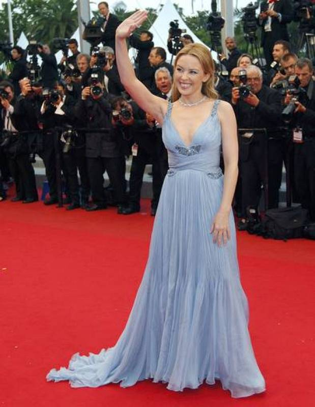 Singer and actress Minogue on the red carpet for the awards ceremony of the 65th Cannes Film Festival