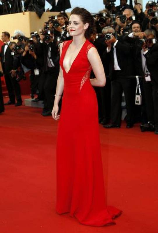 Actress Stewart arrives on the red carpet ahead of the screening of the film Cosmopolis in competition at the 65th Cannes Film Festival