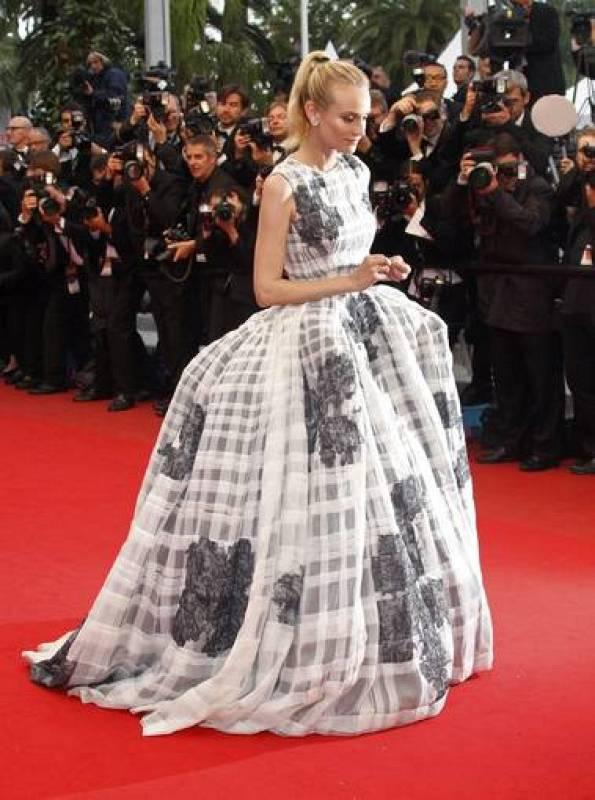 Diane Kruger ha cerrado el festival con este espectacular vestido de alta costura de Dior. Arriesgado, pero maravilloso