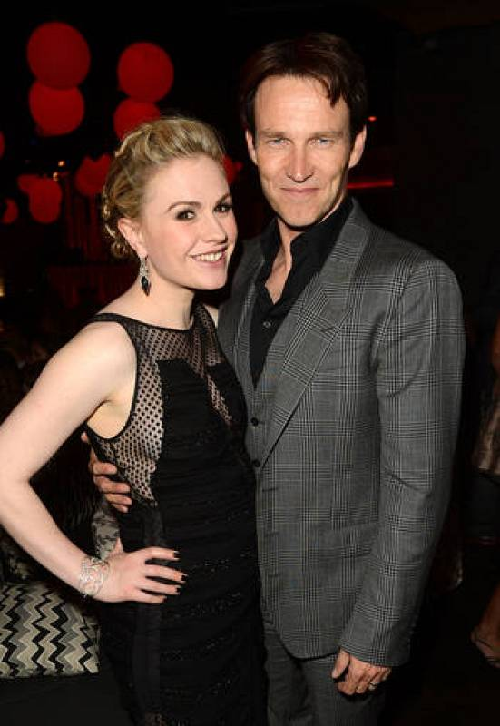 Anna Paquin y Stephen Moyer premiere de True Blood