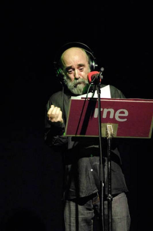 Álex Angulo durante la representación de 'El último trayecto de Horacio Dos'