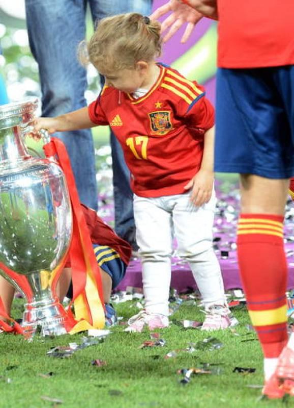 Los hijos de los jugadores han participado en la celebración