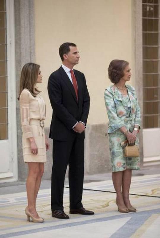 El príncipe Felipe, la princesa Letizia y la reina Sofía - Juegos Olímpicos de Londres