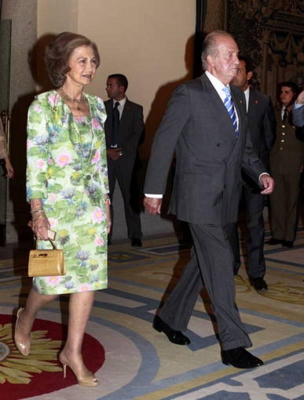 El Rey don Juan Carlos y la Reina doña Sofía - Recepción Juegos Olímpicos de Londres