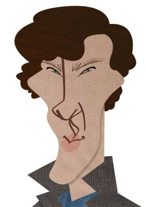 divertida caricatura de sherlock-#45