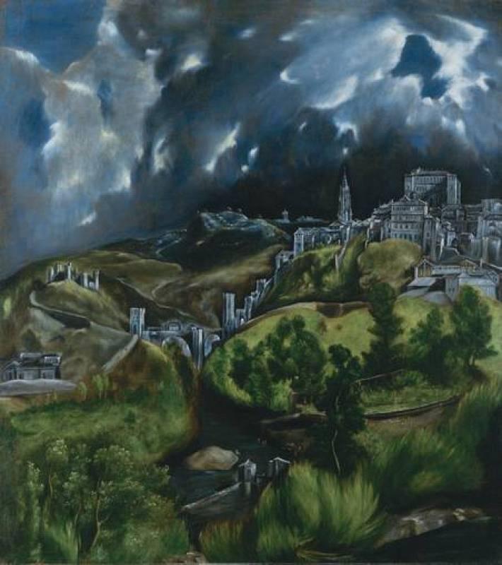 """El Greco, """"Vista de Toledo"""" (1606-1614)"""