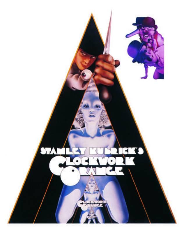 Philip Castle- Clockwork Orange. La naranja mecánica. Cartel. Stanley Kubrick& Warner Bross Ent. 1971