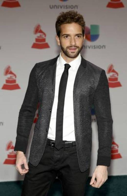 El cantante Pablo Alboran a su llegada a la ceremonia de los XV Grammy Latino.