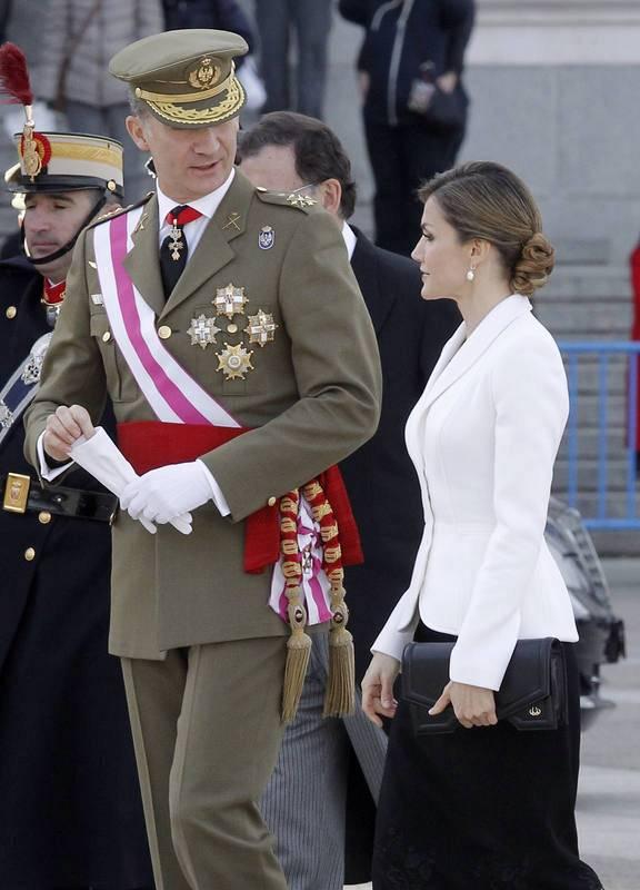 EL REY PRESIDE LA PASCUA MILITAR EN EL PALACIO DE ORIENTE