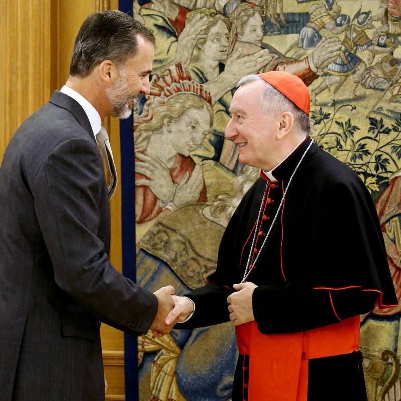 El rey recibe al secretario de Estado de la Santa Sede, Pietro Parolin