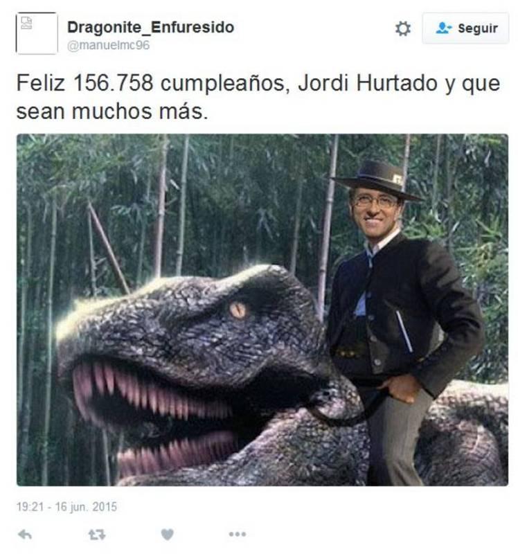... pero Jordi Hurtado no es un extraterrestre, ni posee el elixir de la inmortalidad.