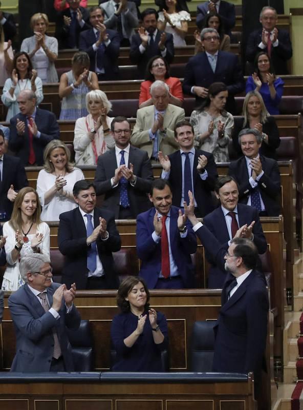 Rajoy ha intervenido en el pleno para responder a la moción de censura