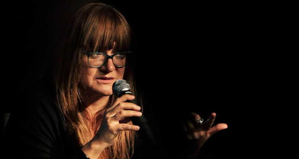 La directora Isabel Coixet durante su encuentro con estudiantes por la película 'Spain in a Day'