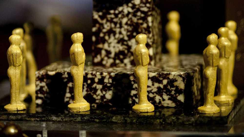 Estatuillas de chocolate que formarán parte del menú del Governor's Ball, la fiesta oficial de los Oscar.