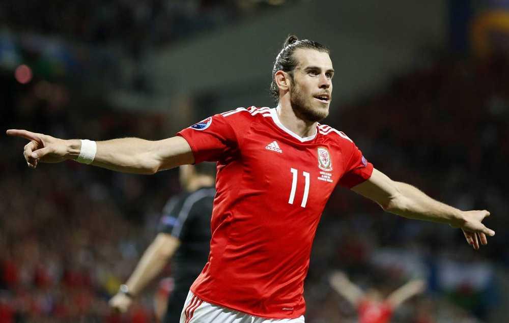 Bale celebra el 0-3 ante Rusia, hecho por él.