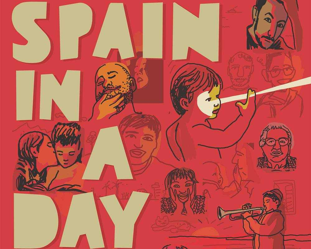 Cartel de 'Spain in a day' de Javier Mariscal