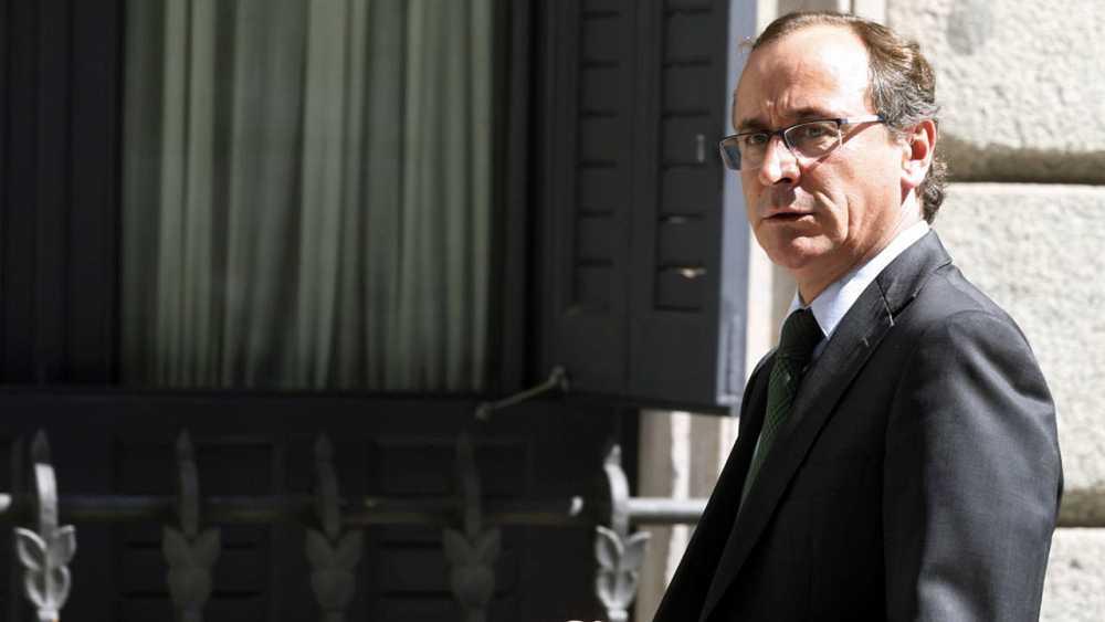 El presidente del PP vasco y candidato a lehendakari, Alfonso Alonso