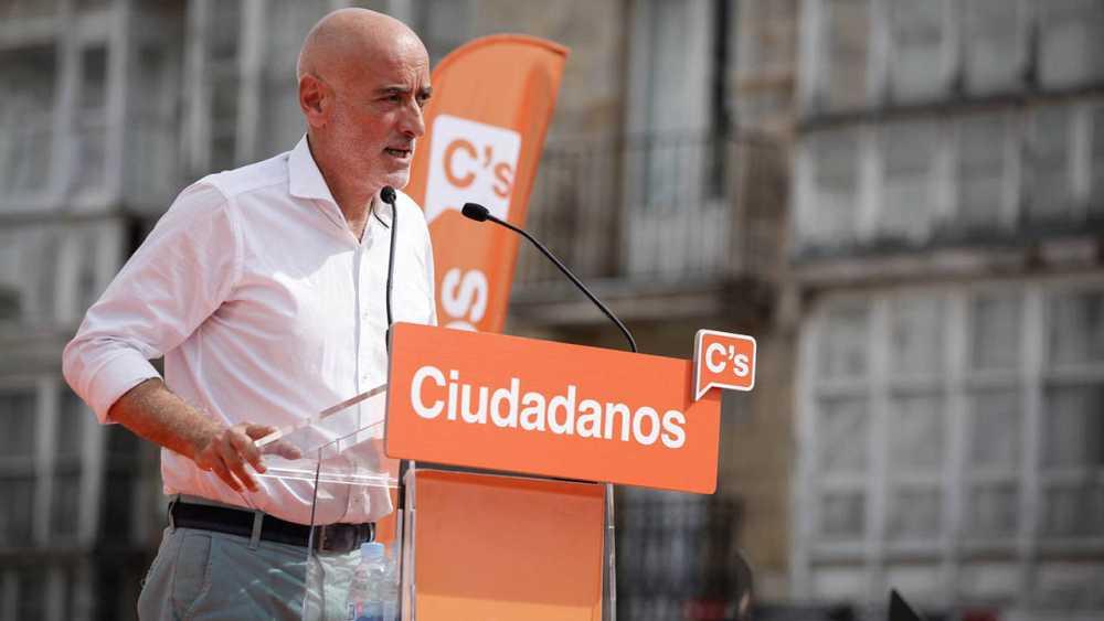 El líder de Ciudadanos en el País Vasco y candidato a lehendakari, Nicolás de Miguel