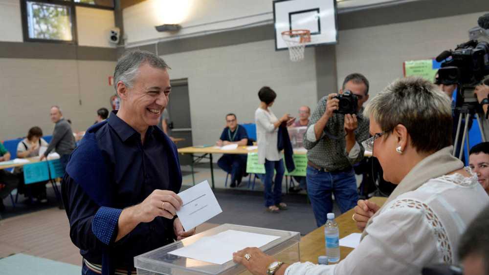 El actual lehendakari y ganador de las elecciones vascas 2016 por el PNV, Iñigo Urkullu