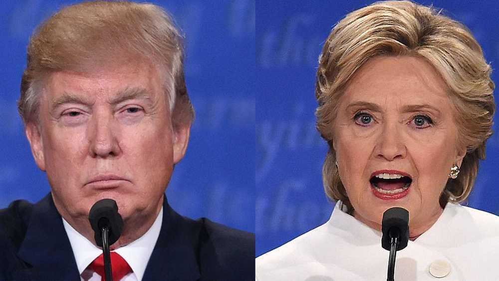 Los candidatos a la Casa Blanca: el republicano Donald Trump y la demócrata Hillary Clinton. Fotos: AFP. Saul Loeb (Trump) y Robyn Beck (Clinton)