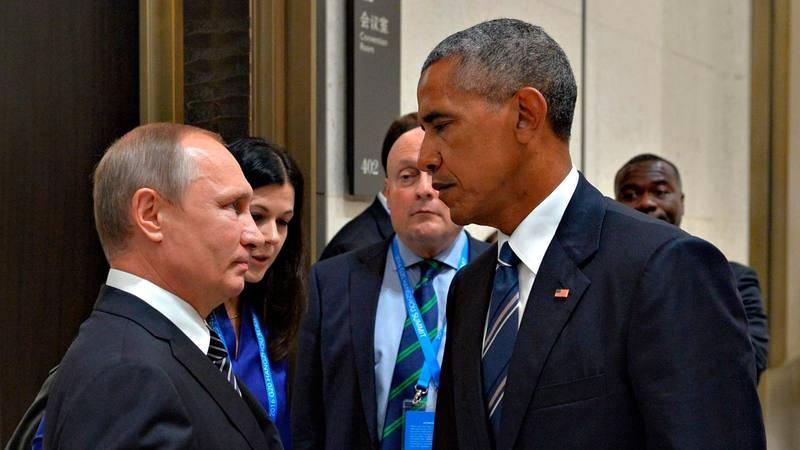 Los presidentes de Rusia, Vladímir Putin, y Estados Unidos, Barack Obama, durante la última reunión del G20