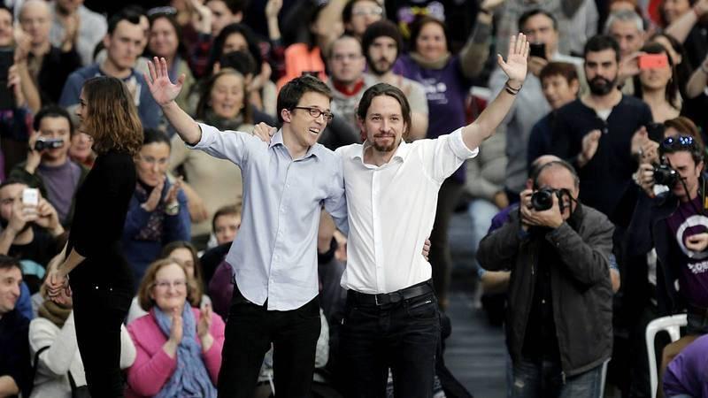 El líder y número dos de Podemos, Pablo Iglesias e Íñigo Errejón.