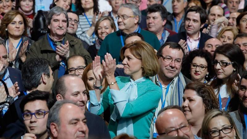 María Dolores de Cospedal, en un momento del congreso nacional del partido que se celebra en Madrid